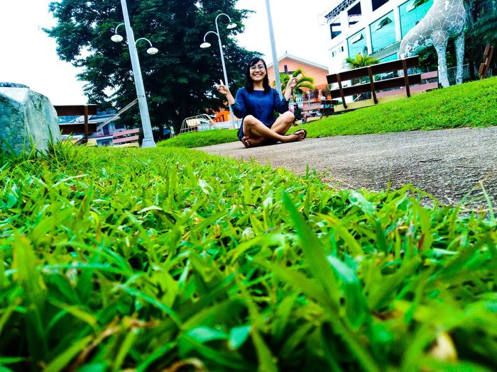 Peace is possible ✌️ Nature Park - Man Made Space Full Length Sitting Grass