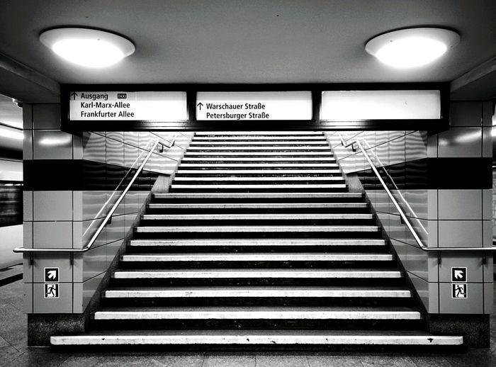 Day 305 - Frankfurter Tor Ausgang Berlin Blackandwhite Public Transportation Ubahn Frankfurtertor 365project 365florianmski Day305