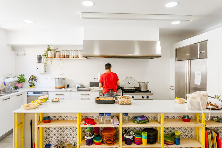 Kitchen of a children's dining room Architecture Chef Chiken Clean And Organized Clean Eating Cooking Day Dinning Room Food Indoors  Interior Design Pointofview Sonyalpha Space Wide Angle