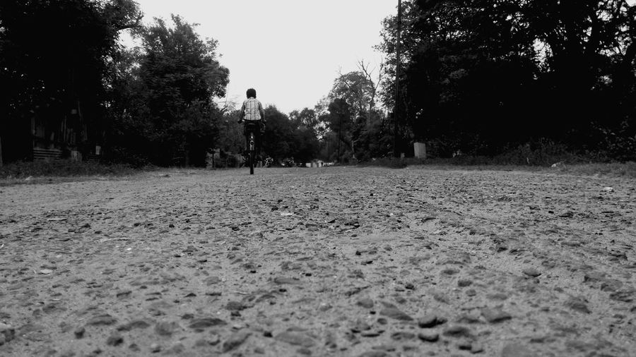 Cycling 🚴 Boy Low Angle View No Edit No Editing No Edit Needed Tree One Person Child Day Outdoors People Sky Adult Only Men