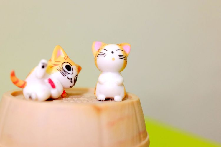 Figurine  Cats Toys Close-up Indoors  Doll Humor