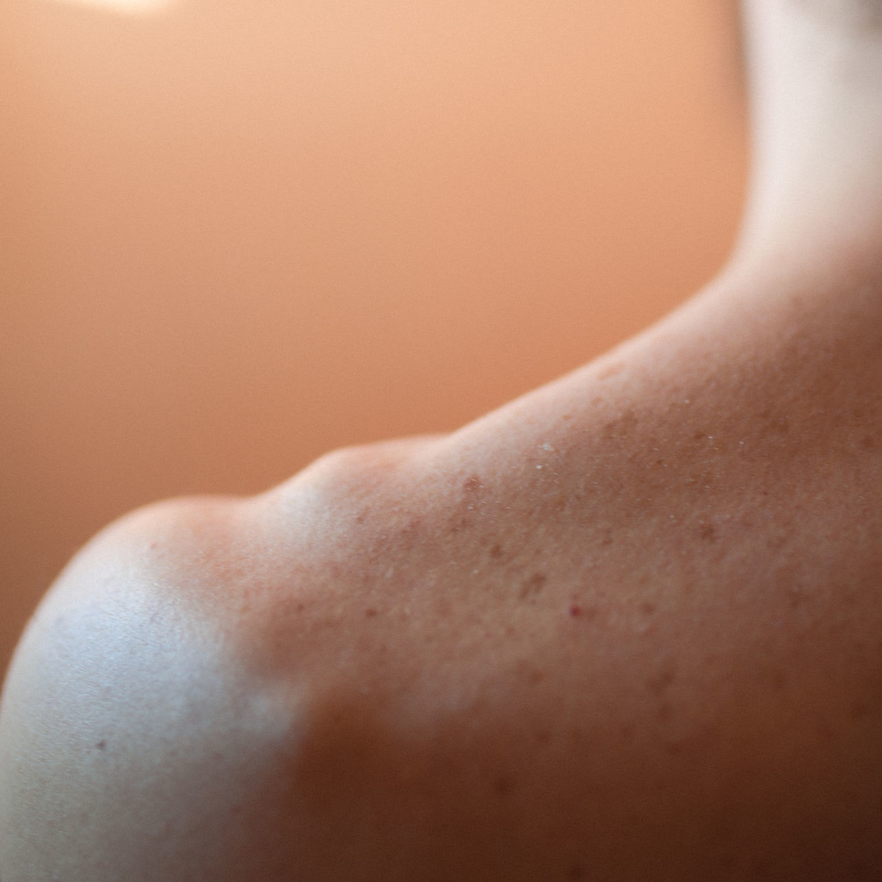 Cropped image of man shoulder