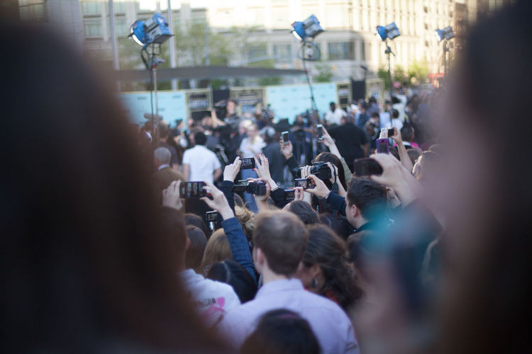Crowd Photographing During Event