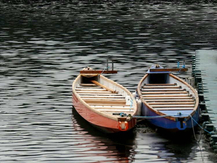 Rowing boats Rowing Boats Rowingboat Rowing Race Nautical Vessel Water Moored Transportation No People Reflection Mode Of Transport Day Outdoors Travel Destinations Nature Riverbank River Lee Cork City Ireland