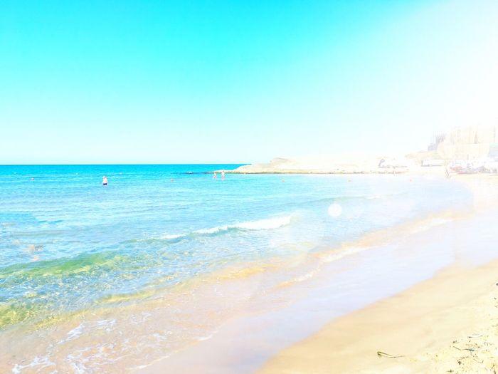 EyeEmNewHere Sicily, Italy Beach Sea Nature Beauty In Nature Water Blue Tranquility Cava D'aliga Day Sky Horizon Over Water