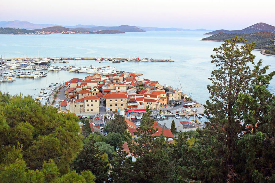 View into the city of Tribunj, Croatia Architecture City Croatia Building Exterior Buildings High Angle View Outdoors Residential District Sea Seaside Town Water