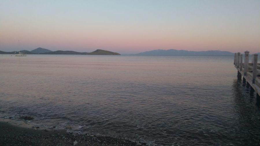 Akşam Sefası.. Water Clear Sky Salt - Mineral Salt Basin Sunset Beach Desert Lake Blue Drying First Eyeem Photo