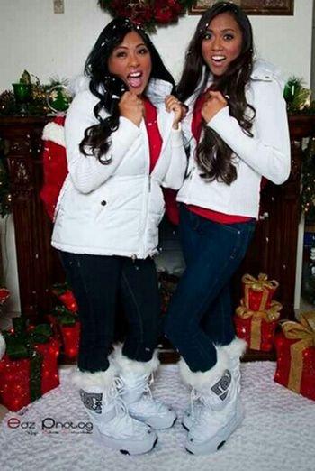 Having fun at our Christmas photo shoot.