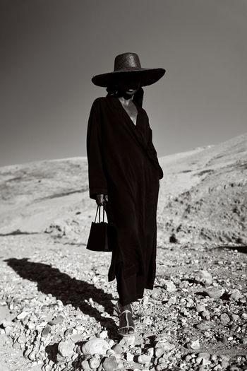 Model In Desert