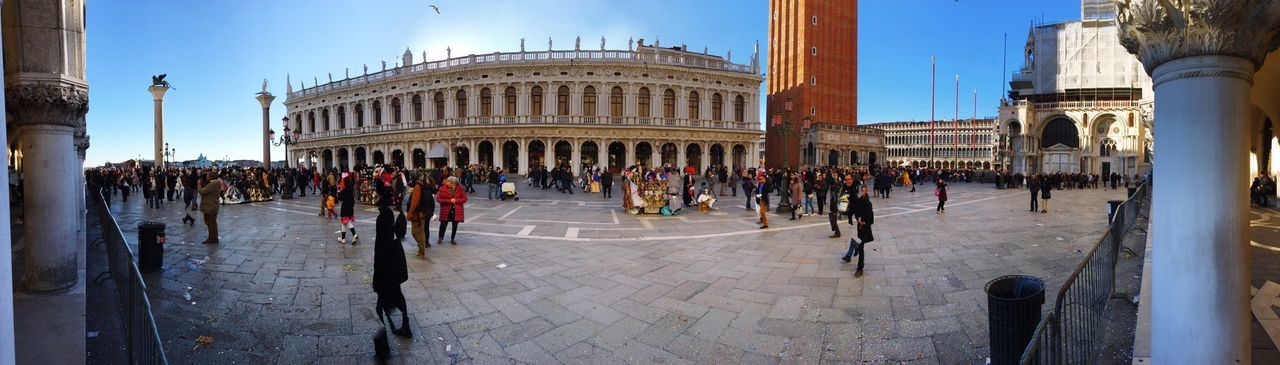 Panoramic view of people at st mark square
