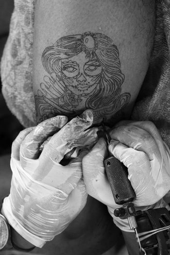 Tattooing Hands