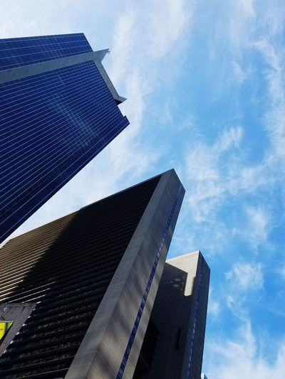 Light And Shadow Modern Architecture Looking Up Urban Exploration Perspective Sky And City City Modern Skyscraper Blue Sky Architecture Building Exterior Built Structure Cloud - Sky Urban Skyline China World Trade Center Cityscape Downtown District Tall - High