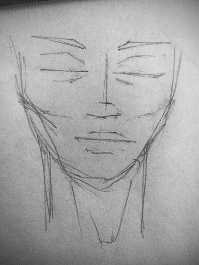 Paper Quicksketches In Progress  Human Face Adult Textured  EyeEmNewHere The Week On EyeEm
