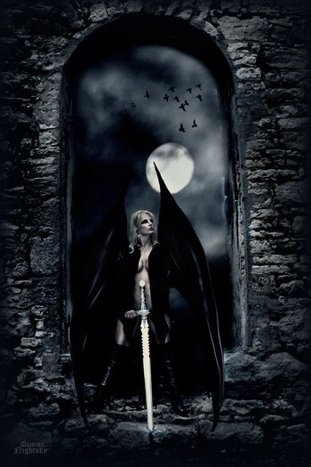 DamianNightsky Castle View  Castle Goodnight Nina Sternfee Good Morning Sexygirl Woman Who Inspire You Sexywomen Composition Horror Wall Built Structure Evil