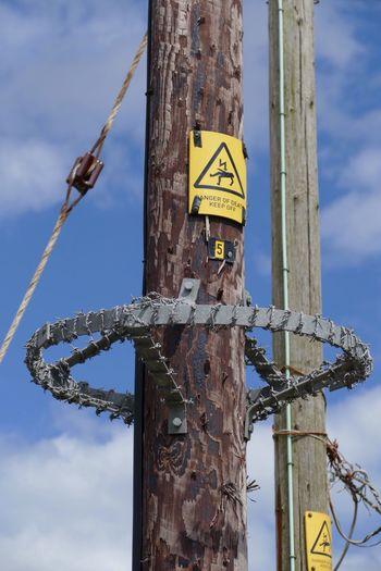 Electricity  Electric Pole Danger Dangerous Danger! Danger Zone LUMIX DMC FZ1000 Barbed Wire
