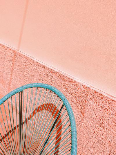 Armchair design interior in summer shadows mediterranean cafe. minimalist