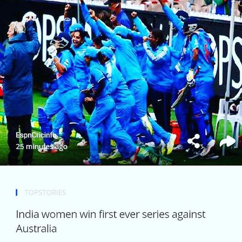 Cheers for Indian Cricket team women. Victory Cricket India Cricketindia Womencricket Hikenews