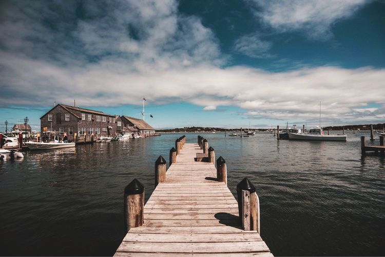 Water Sky Cloud - Sky Pier Direction Architecture The Way Forward Sea Diminishing Perspective Nautical Vessel Outdoors