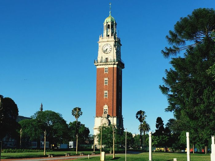 torre de los ingleses Linda Bs As Cuando Se Va La Gente Retiro Place Of Worship Tree Blue Day Cross Architecture Outdoors Built Structure Clock Tower Clear Sky Sky Clock No People Building Exterior