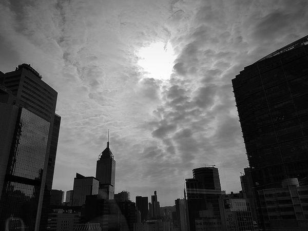 Cloud - Sky Hole In The Sky Big Hole Dramatic Sky Hong Kong City Hong Kong The City Light