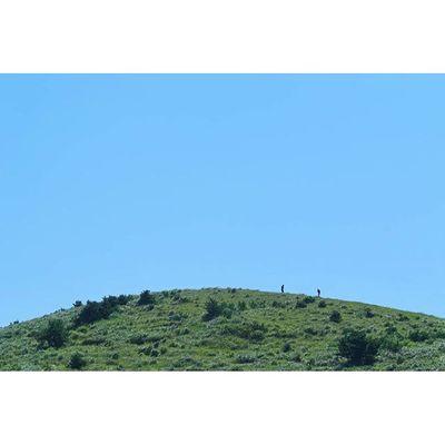 두 사람 👫 용눈이오름 Two on the hill Jejuisland