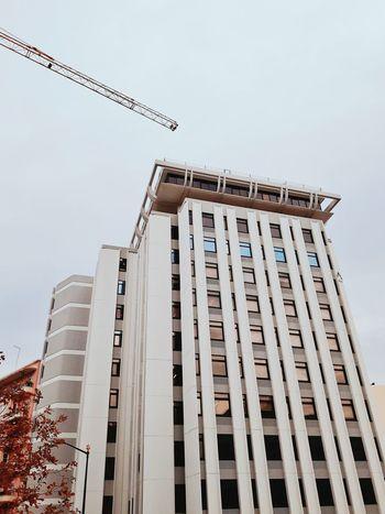 Building Exterior Office Building Lisboa Architecture Cityscape Crane Minimalistic Lookingup Vertical Instagramer Umeugram