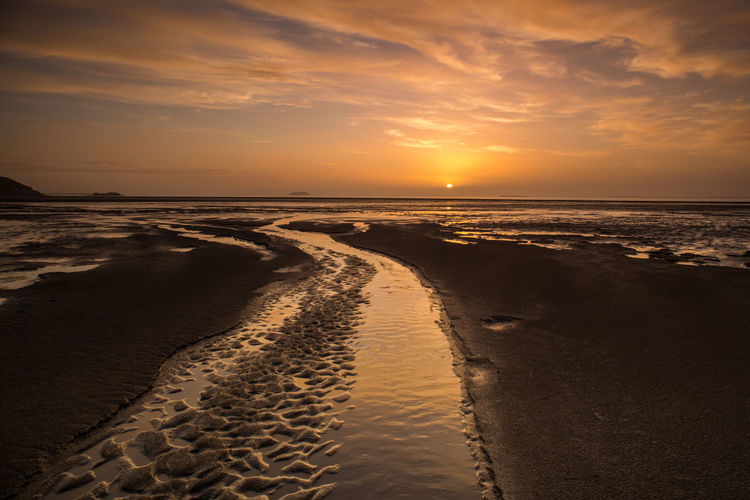 Dusk Sky Somerset England Sunset Beach Vacations Beach Beauty In Nature Destination Dusk Horizon Over Water Nature Nature Backgrounds No People Outdoors Sand Sandbay Scenics Sea Seascape Sky Sunset Sunset Sky Textured Beach Tranquil Scene Tranquility Water