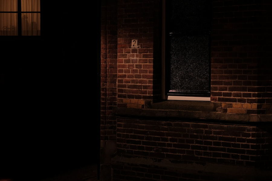 Architecture Brick Wall Building Built Structure Closed Dark Illuminated No People Noir