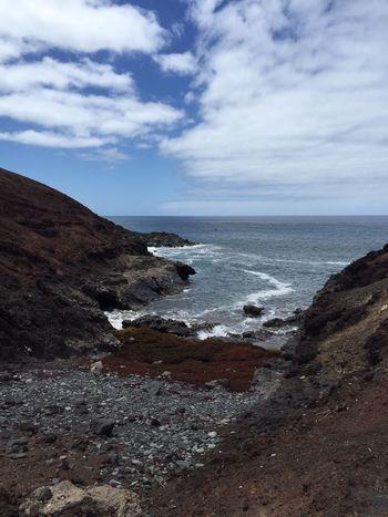 Beach Coastline Horizon Over Water Rock Sea Trip Vacation Water