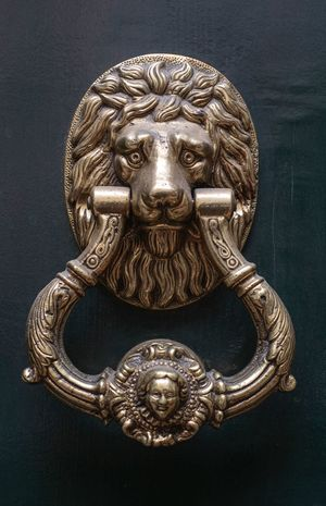 City Life Vintage Old EyeEm Selects Door Door Knocker Close-up Lion - Feline Metal Art And Craft Ornate Day No People Outdoors