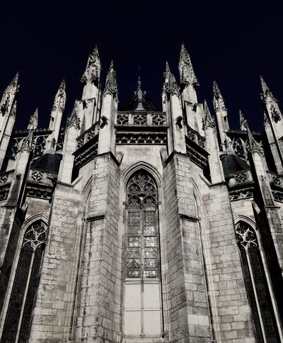 Cathedral Looking Up Architecture Gothic