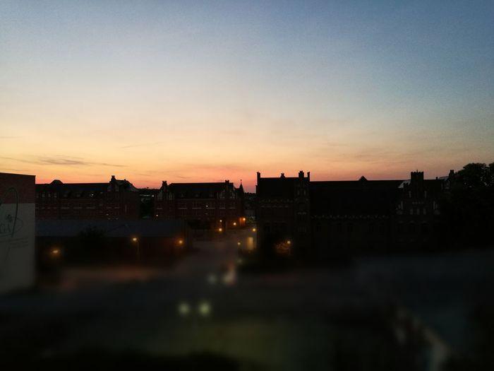 Sunset Cityscape No People City Night Landscape Architecture Urban Skyline Outdoors Illuminated Sky