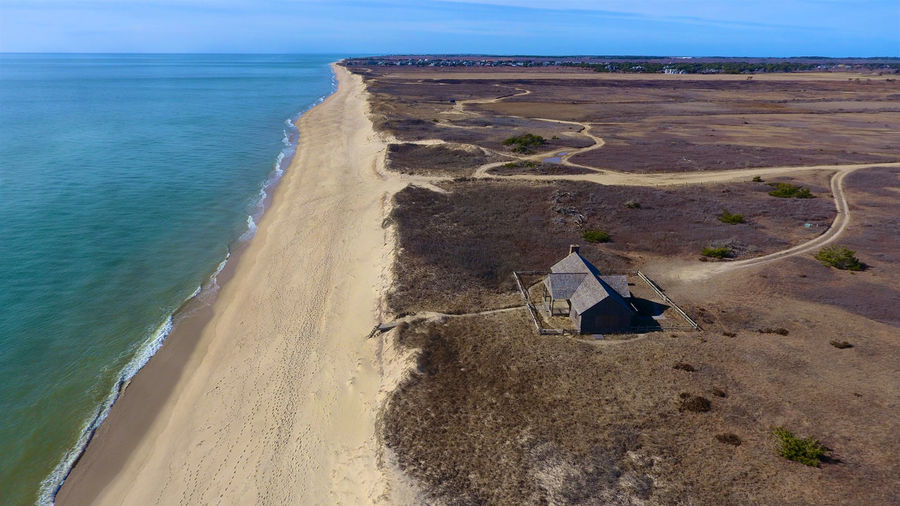 Fat Ladies Beach at Nantucket Island in Massachusetts by Drone Aerial Beach Cape Cod Drone  Fat Ladies Fat Lady Massachusetts Nantucket Off Season