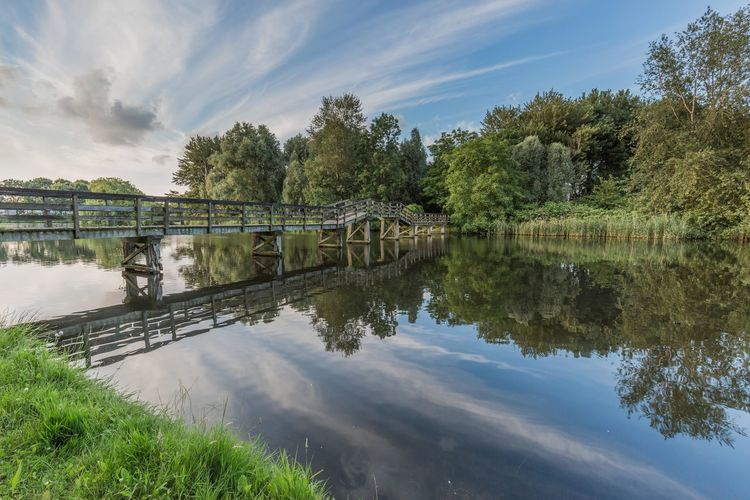 Almere, The Netherlands Beauty In Nature Holland Landscape Landscape_Collection Nature Reflection Sky Water