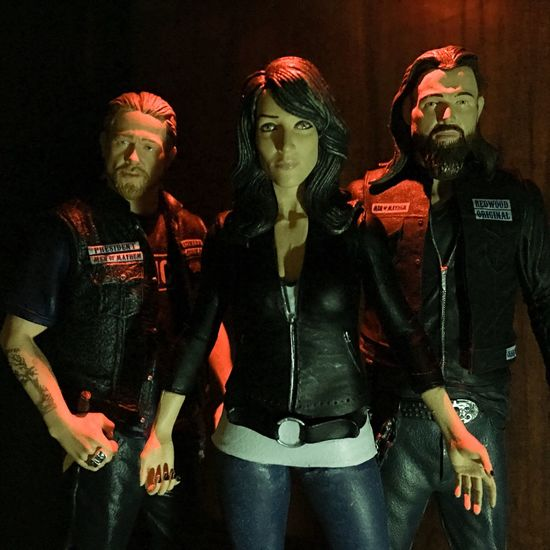 A Queen and her Henchmen..💀 Toy Photography Toyphotography Toyphotogallery Toptoyphotos Toyplanet Toyunion Toyrevolution Justanothertoygroup Actionfigurephotography Actionfigures Mcfarlanetoys Sonsofanarchy Jaxteller Toys