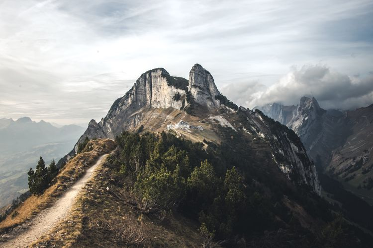 Mountain Nature Sky Peak Beauty In Nature Mountain Range Landscape Scenery Day Scenics Outdoors No People Height High Range