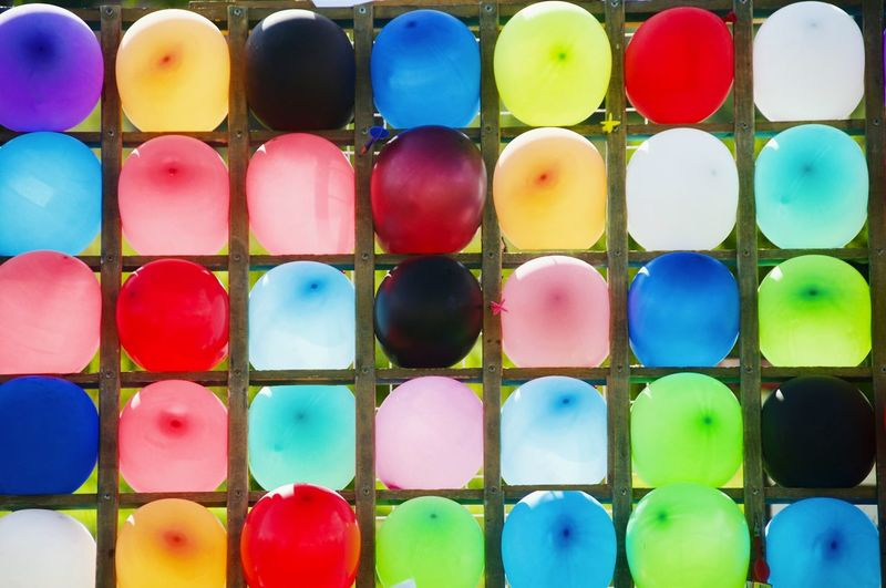 Colors Sunny Day Window Balloons Balloons🎈 Shooting Gallery Shooting Multi Colored Variation Close-up Abstract Backgrounds Circle Symmetry Summer In The City EyeEmNewHere