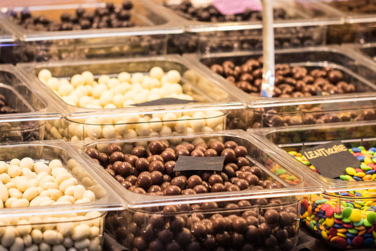 High angle view of candies at shop