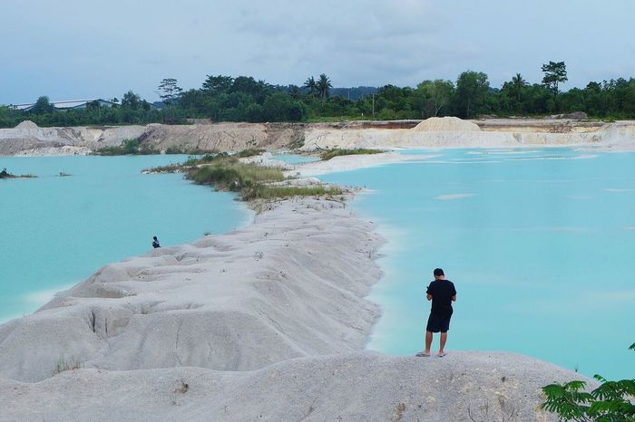 Blue white Kaolin Belitung Explore INDONESIA Traveling