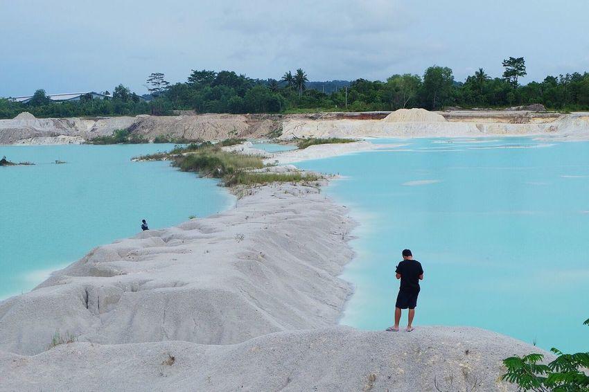 Blue white Kaolin Belitung Explore INDONESIA Traveling