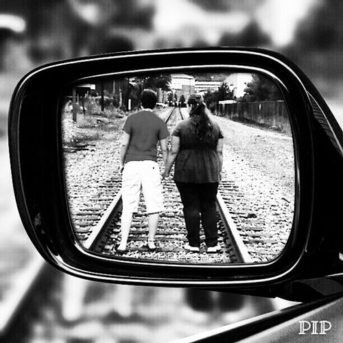 Friendship Walking Hand In Hand Railroad Tracks Enjoying Life Hanging Out Check This Out Black And White Taking Photos EyeEm Gallery Walking The Tracks People And Places Tranquil Scene Pennsylvania People Photography Eyeem Market Monochrome Photography