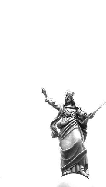 Jesus Christ The King Sky Power Black And White Monochrome King God