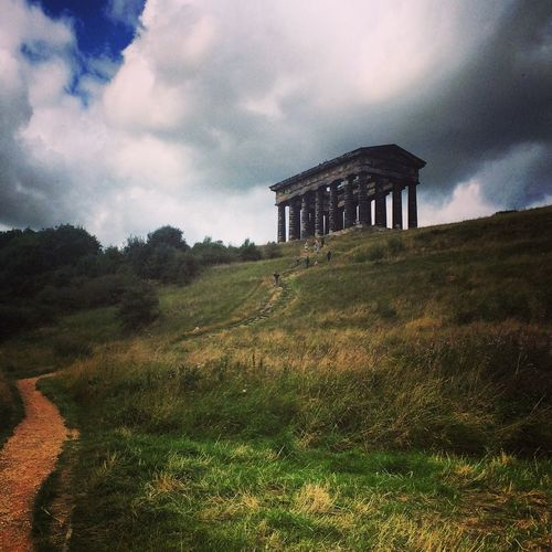 Went to a Geocaching meet at Penshaw Monument