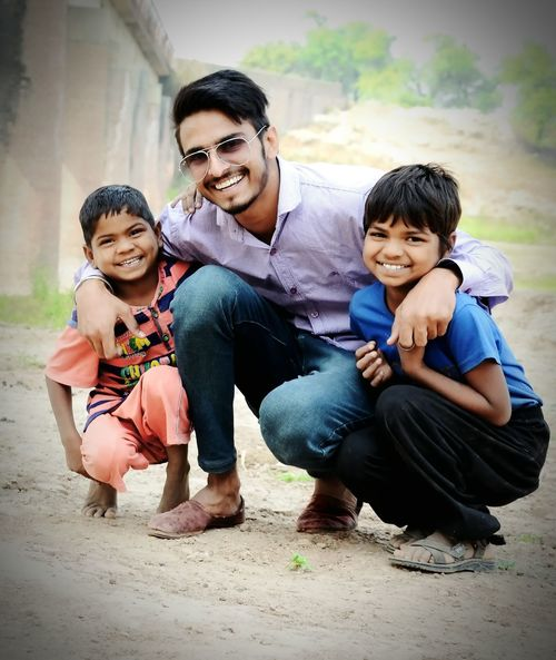 Life Is Not Just Sad, Sometimes it is Very Happy in Just a Few Moments...... Child Boys Smiling Happiness Childhood Looking At Camera Portrait