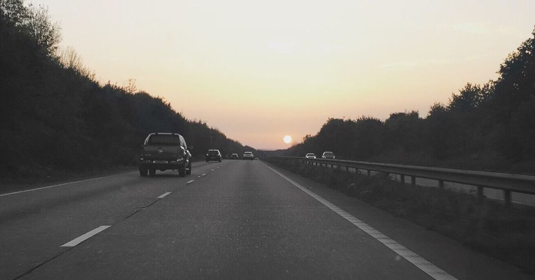 A12 Sunset Sunset Road Car The Way Forward No People Sky Nature Beauty In Nature Sun Colour