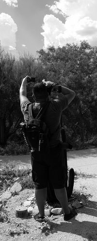 Candid shot of my husband taking pics. Thephotographer Photography Tucson Arizona  Eyemphotography Surreptitious Night Outdoors Monochrome Going Black & White Candid Photography Myhusband RePicture Masculinity