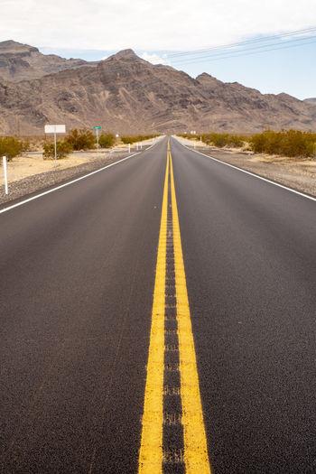 Highway 160 in mojave desert town of pahrump, nevada, usa