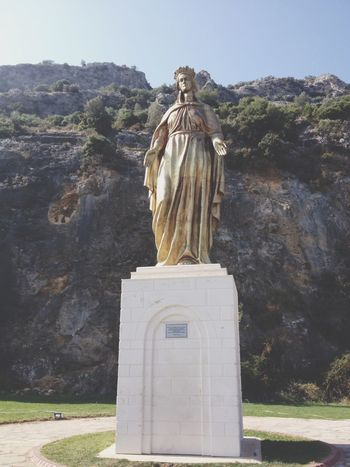 Statue of The Virgin Mary  ... In Selçuk Izmir . Holy Places Visiting House Of The Virgin Mary On The Way Taking Photos
