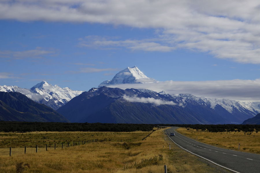 Hiking MIssing In Nature Mt.Cook Road In Heaven Stunning_Vi Beauty In Nature Beauty In Nature Day Landscape Mountain Nature No People Outdoors Road To Nature Scenics Sky Stunning Nature