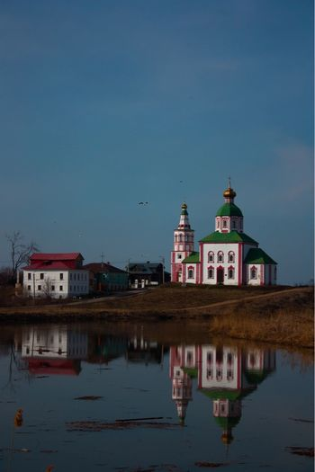 Traveling Travel Church Architecture Church Building Exterior Built Structure Architecture Water Building Sky Reflection Nature Religion Travel Destinations Lake No People Illuminated
